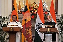 President Maithripala Sirisena on a State Visit to India, February 2015