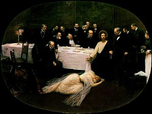 Jean Béraud The Magdalen at the House of the P...