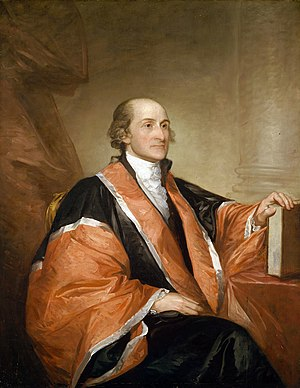 John Jay, author of five of the Federalist Pap...