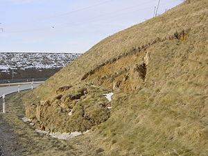 Landslide of an embankment Deutsch: Böschungsb...