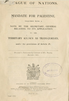 Mandate For Palestine Wikipedia
