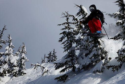 Matt Moniz Big Mountain Skiing Alyeska, AK