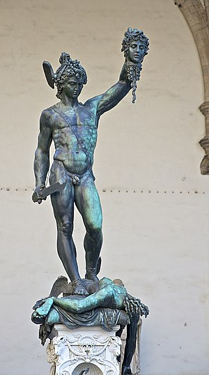 English: Perseus holding the head of Medusa, b...