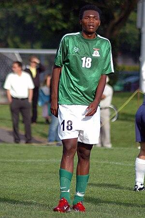 English: Photo of soccer player, Rodgers Kola,...