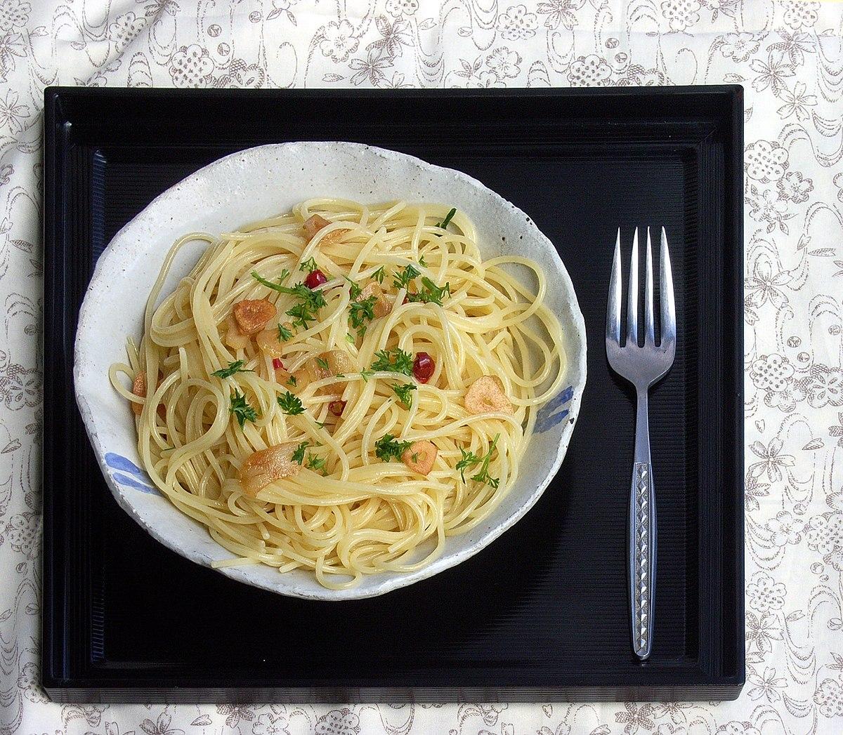 Spaghetti aglio e olio  Wikipedia