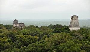 Tikal Mayan Ruins Temples 1, 2, 3 and 5 Guatemala