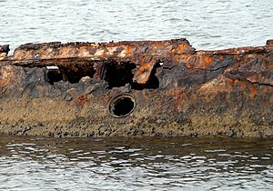 US Navy 061203-N-4774B-014 The rusted hull of ...