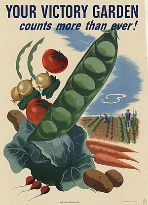 Victory garden poster, World War II