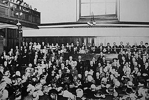 English: All Friends Conference, London, 1920....