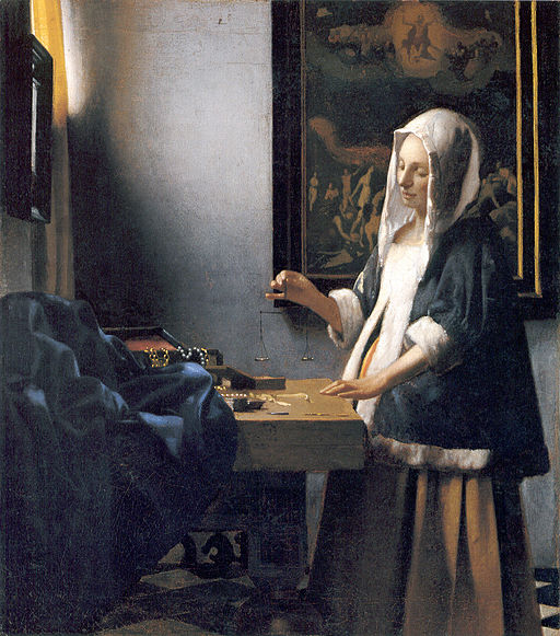 Woman-with-a-balance-by-Vermeer