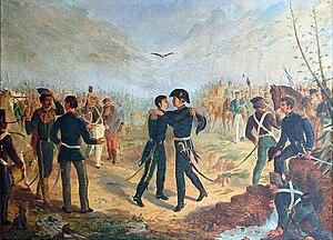 Español: Encuentro de San Martín y Belgrano en...