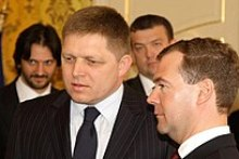Fico with Russian President Dmitry Medvedev, 7 April 2010