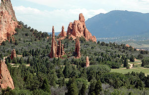 Garden of the Gods, a public park famous for i...