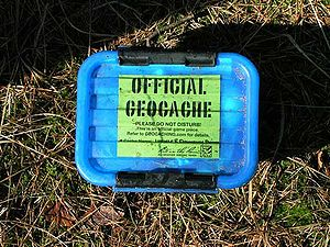 English: Geocache used in the Geocaching sport...