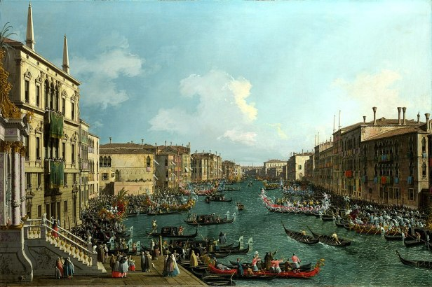 """A Regatta on the Grand Canal"" by Canaletto"