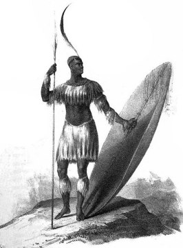 Drawing of the Shaka, King of the Zulu'z.