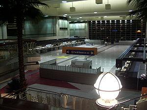 Interior of Tom Bradley International Terminal...