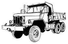 M811 Truck Chassis 5 Ton 6x6 M809 series with mounted