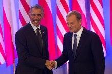 Tusk with Barack Obama, 2013