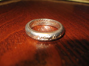 Replica of the One ring from The Hobbit and Th...