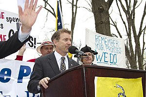 English: Senator Rand Paul (R-Ky) speaking dur...