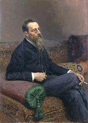 Nikolái Rimski-Kórsakov retratado por Ilya Repin