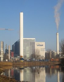 The rubbish incineration plant at Spillepengen...