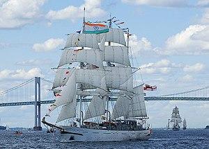 The Indian barque Tarangini passing under the ...