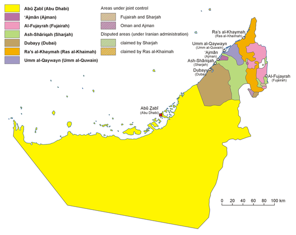 TemplateUAE midsize imagemap with emirate names Wikipedia