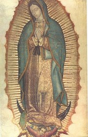 An image of Our Lady of Guadalupe, patron sain...