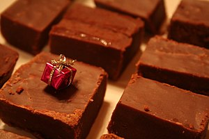 Chocolate fudge squares.