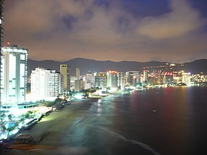 Acapulco bay at night.