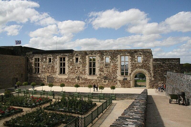 Angers - Château - Mur de l'ancienne salle du trône - 20080921