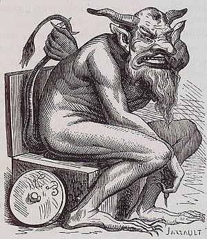 English: The demon Belphegor