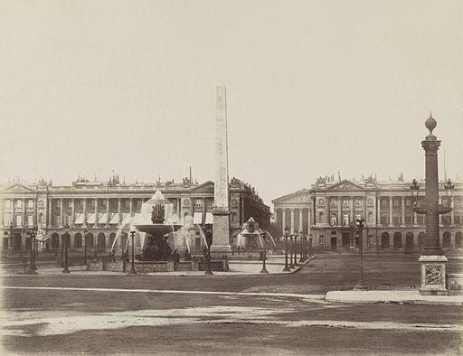 Charles Soulier, Place de la Concorde à Paris