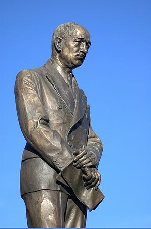 Edvard Beneš statue in Prague.