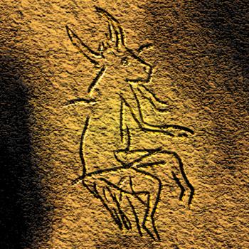 English: Sorcerer of Le Gabillou (Dordogne, Fr...