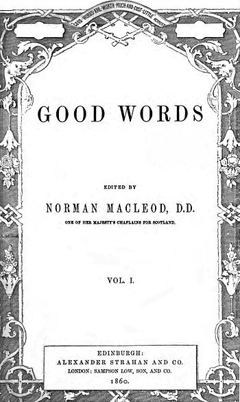 English: Title page to Volume 1 of Good Words