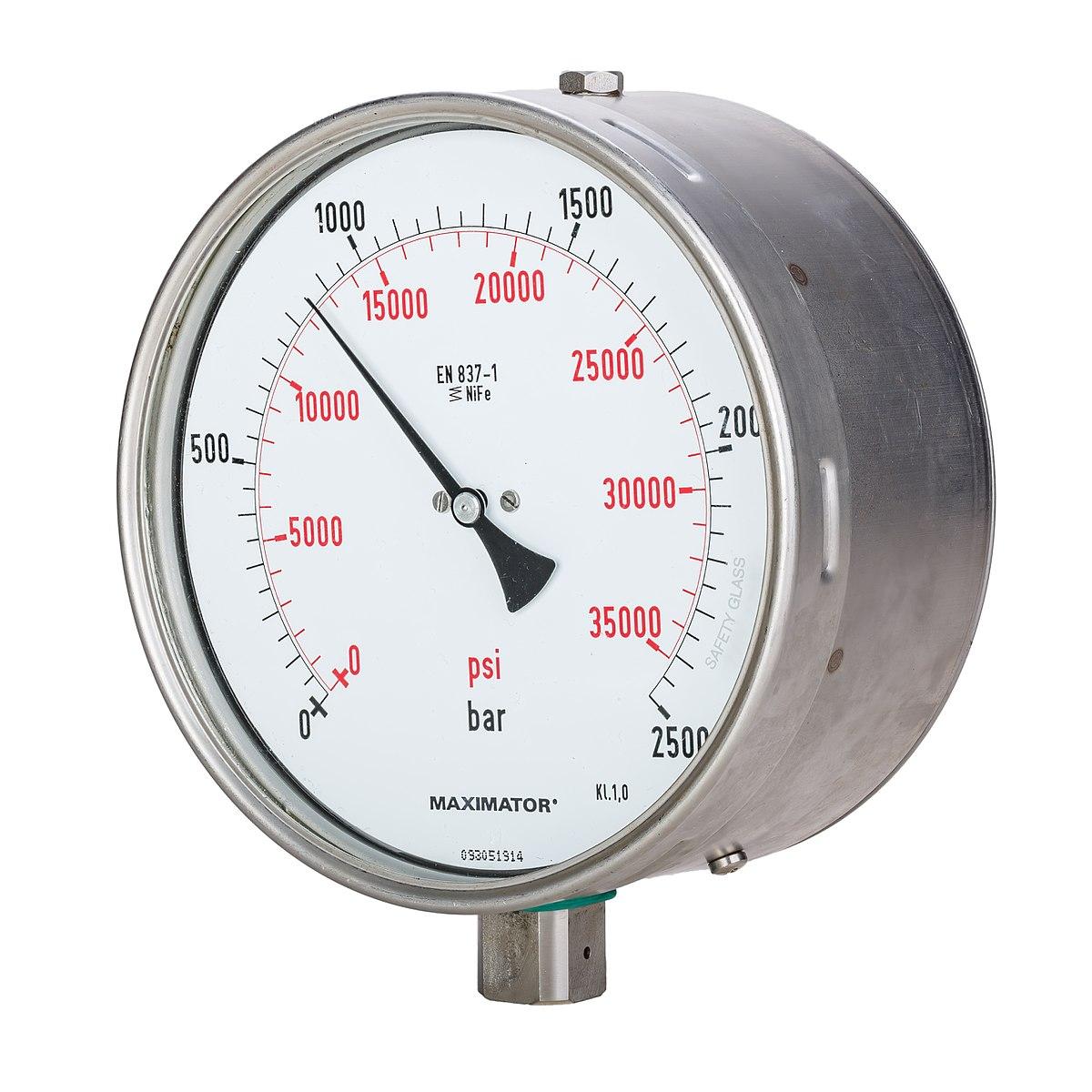 pressure gauge - Wiktionary