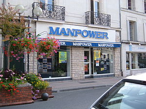 Manpower office in Saumur, France.