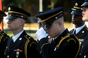 A member of the Maryland Army National Guard H...