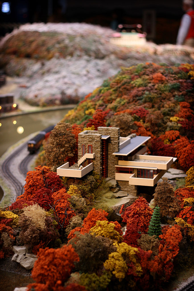 Falling Water Wallpaper Free File Model Train Layout Detail At The Carnegie Science