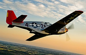 English: The P-51 Mustang flown by the Red Tai...