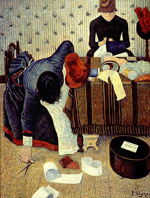 Paul Signac: Two Milliners in the Rue du Caire...