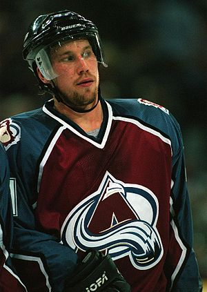 Peter Forsberg Colorado Avalanche October 1997