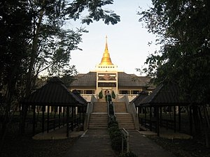 The main Dhamma hall in the Prachenburi Vipass...