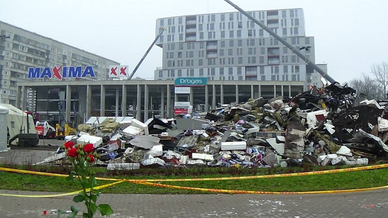 File:Riga Maxima supermarket collapse.jpg