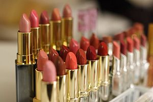 Rows of lipstick