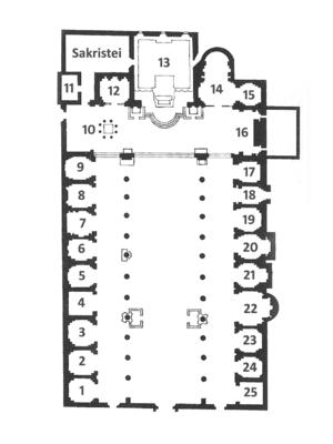 Deutsch: Grundriss der Kirche Santa Maria in A...