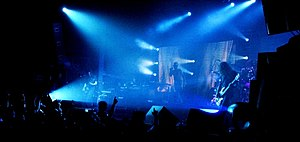 Tool performing live in Barcelona in 2006. Vis...
